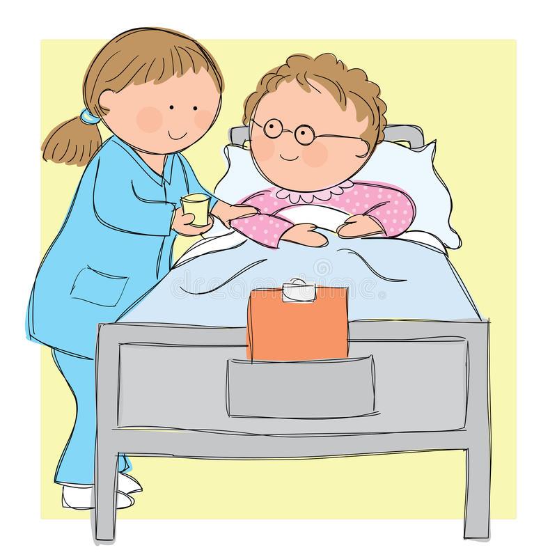 Nurse and patient.