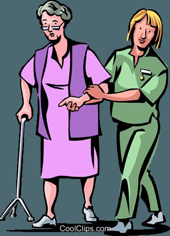 Nurses with patients.
