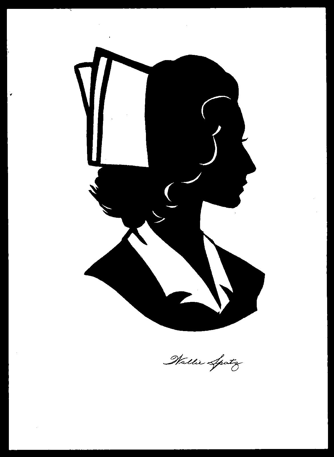 Free nurse silhouette.