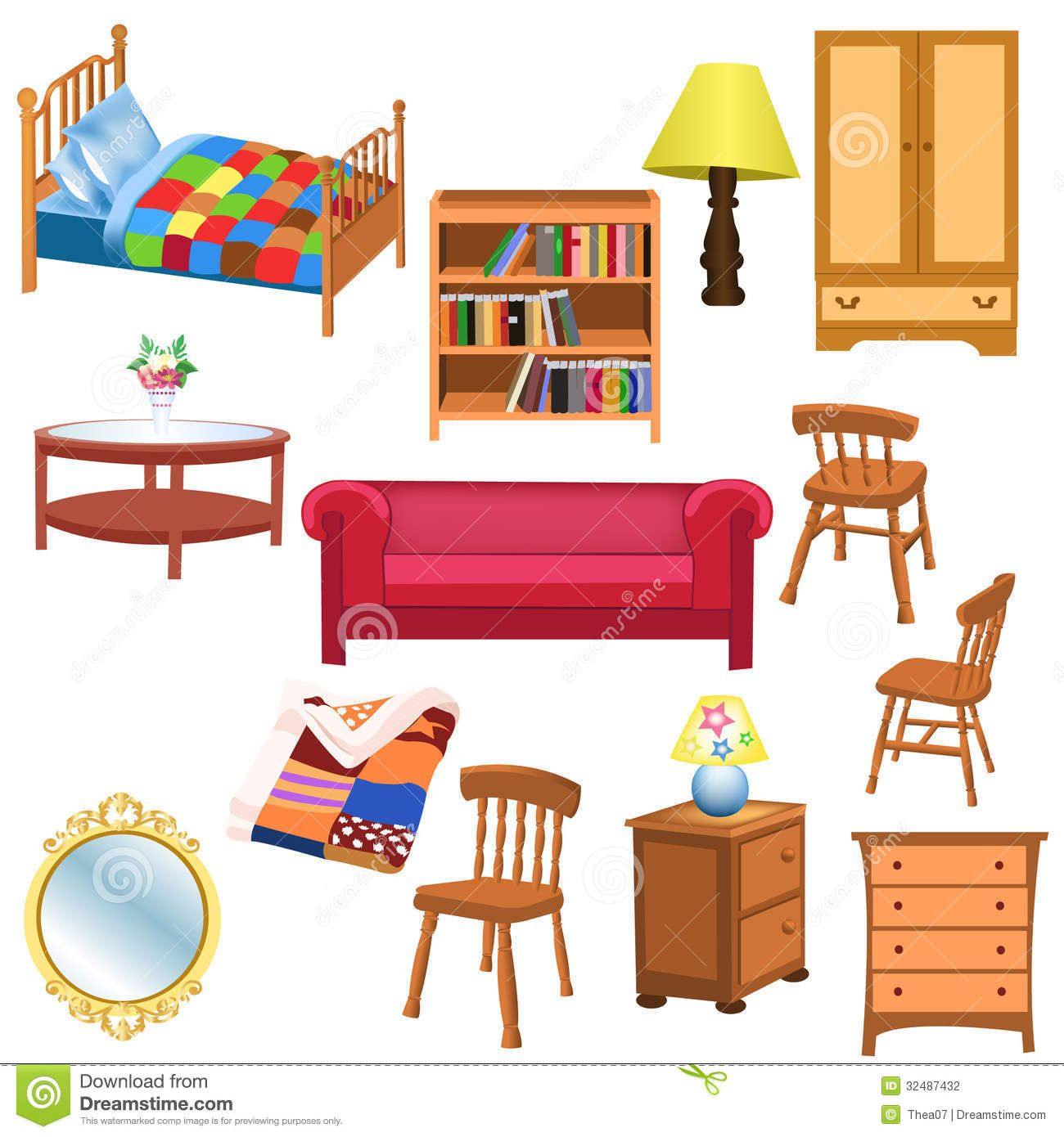 clipart of furniture