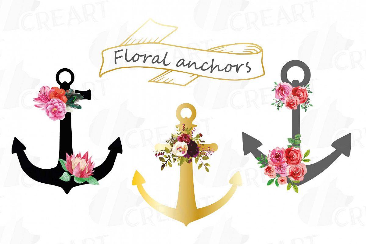 clipart pack anchor flower