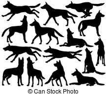 clipart pack wolf