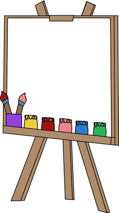 Painting board clipart.