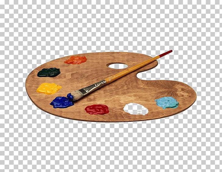 Palette watercolor painting.