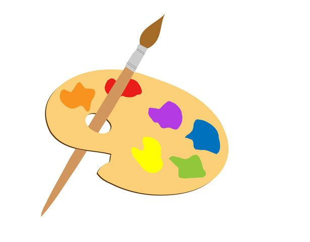 Paint brush clipart.