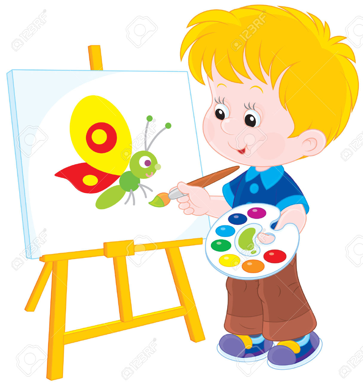 Clipart child drawing.