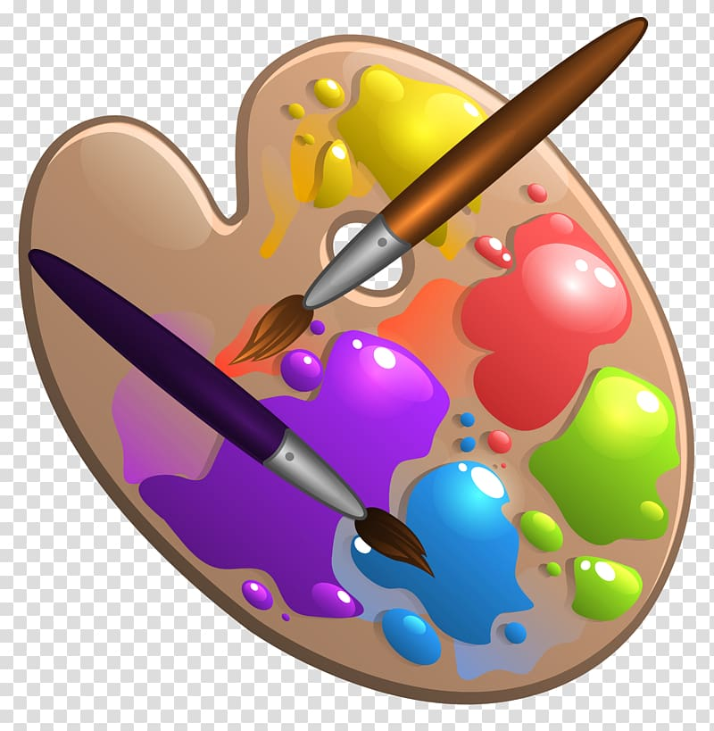 Paint brush and.