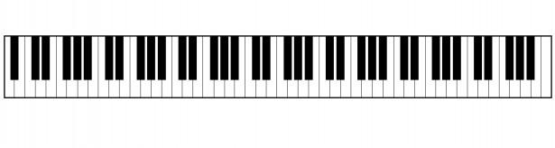 Piano keyboard clipart.