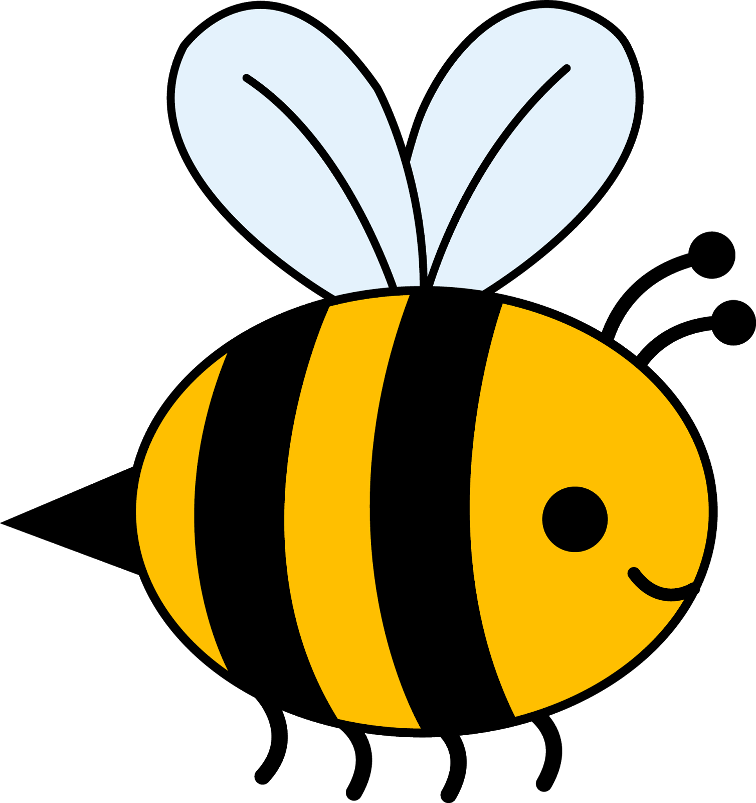 Bee clipart free colorful. Black and white panda