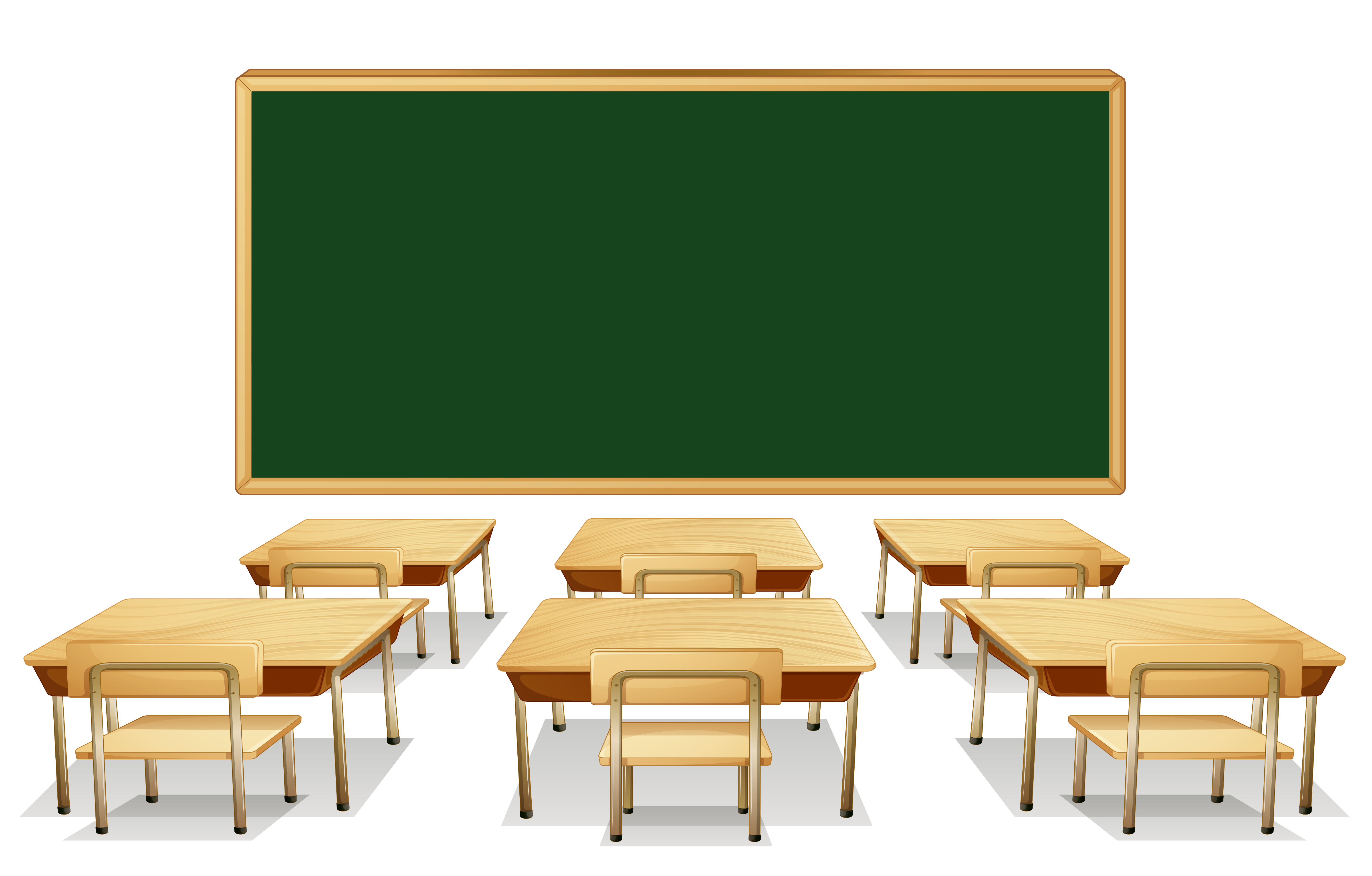 Classroom with green.