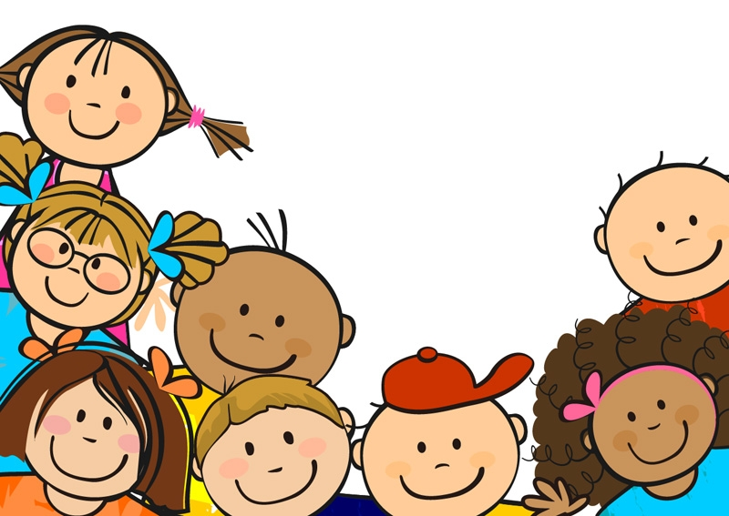Children playing happy.