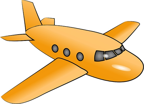 Free yellow airplane.