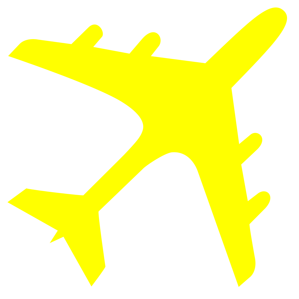Clipart airplane gold.
