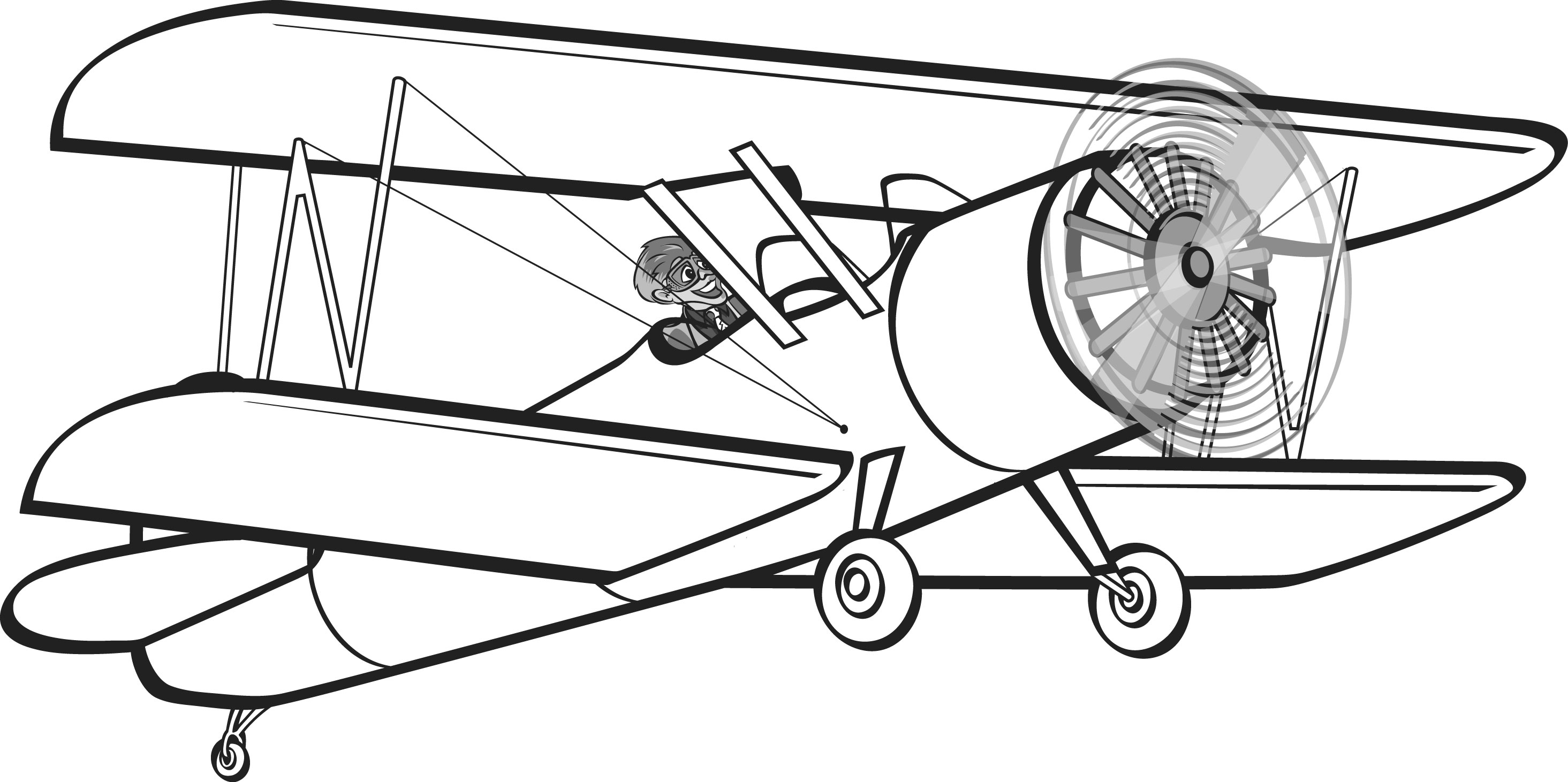 Plane clipart old.