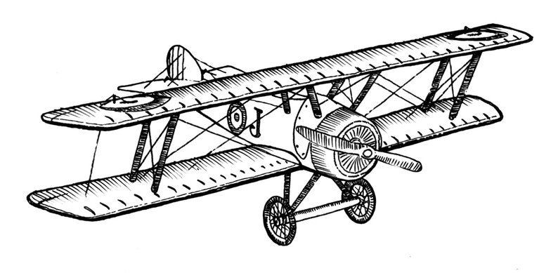 Vintage plane drawing.