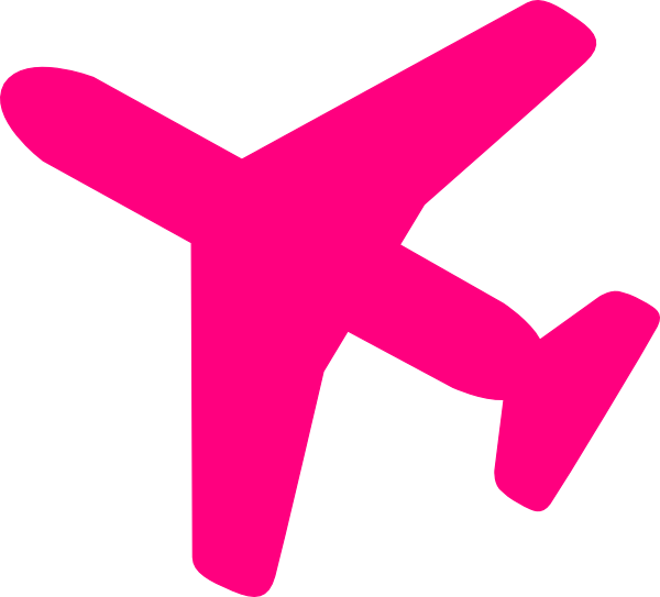 Plane clipart pink.