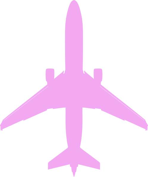 Pink airplane clip.