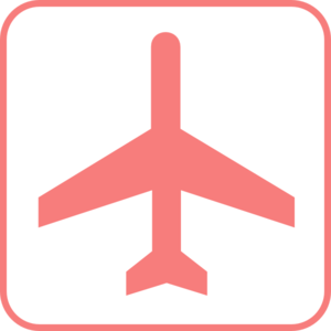Pink airplane sign.