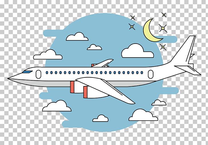 Airplane flight cartoon.