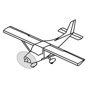Small plane cliparts.