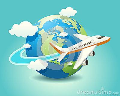 Plane travel clipart.