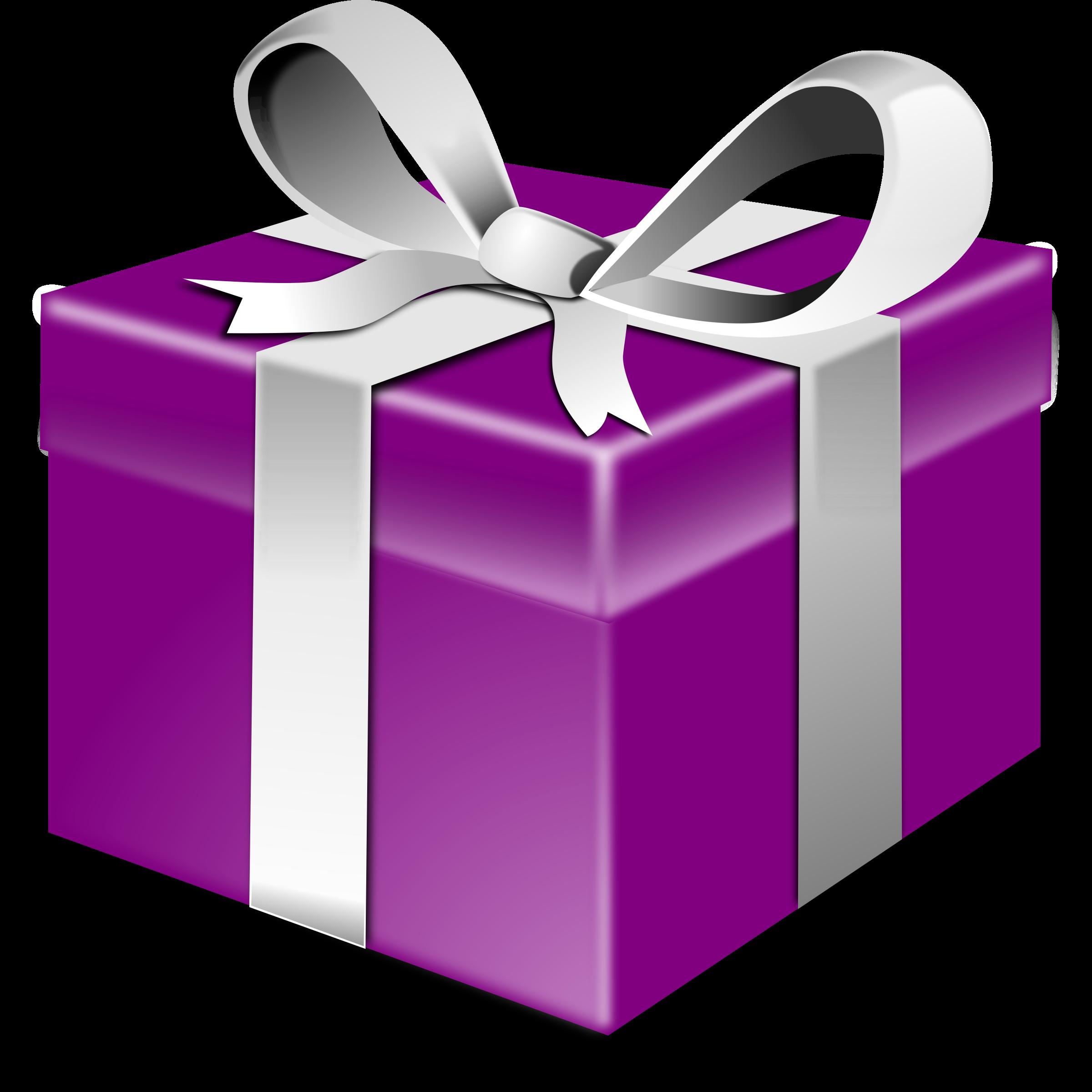 Purple gift bow.