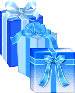 Blue gifts christmas.