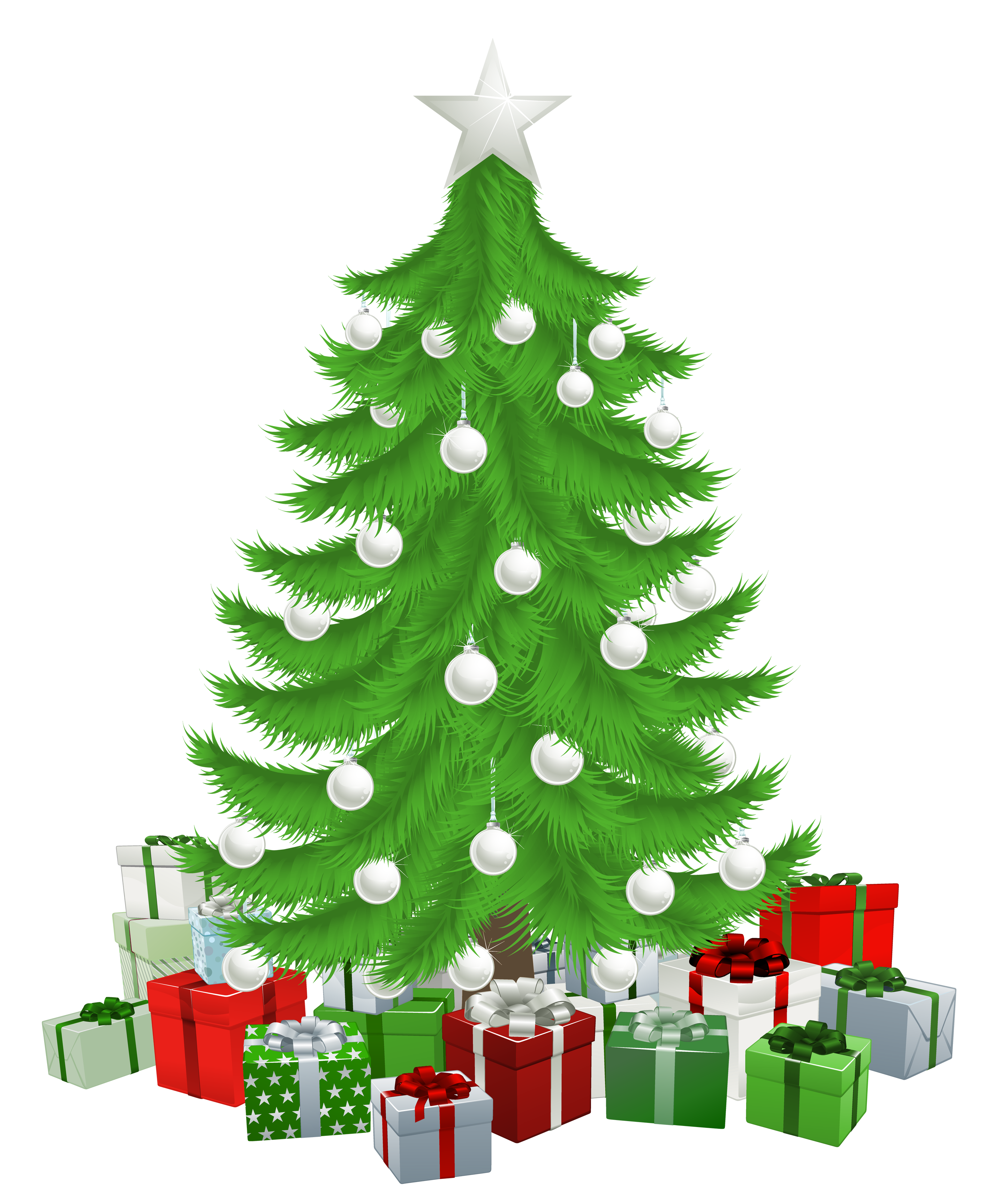 Transparent christmas tree.