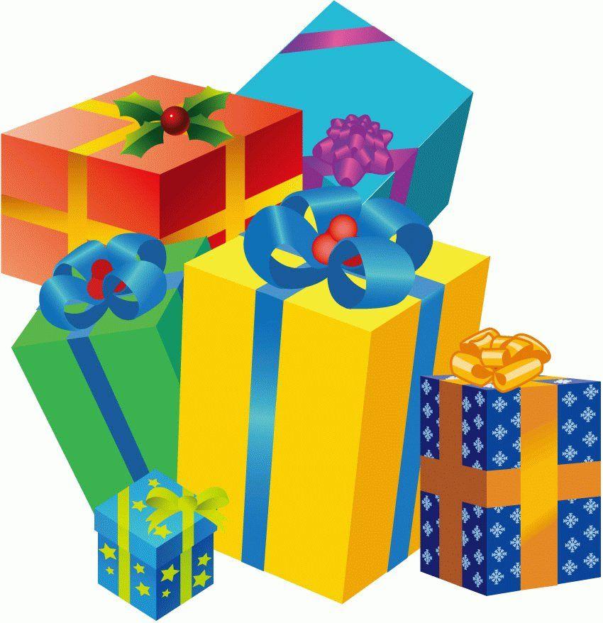 Cartoon gift box.