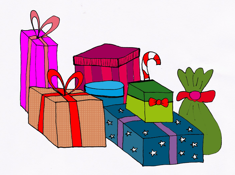 Stack christmas presents.