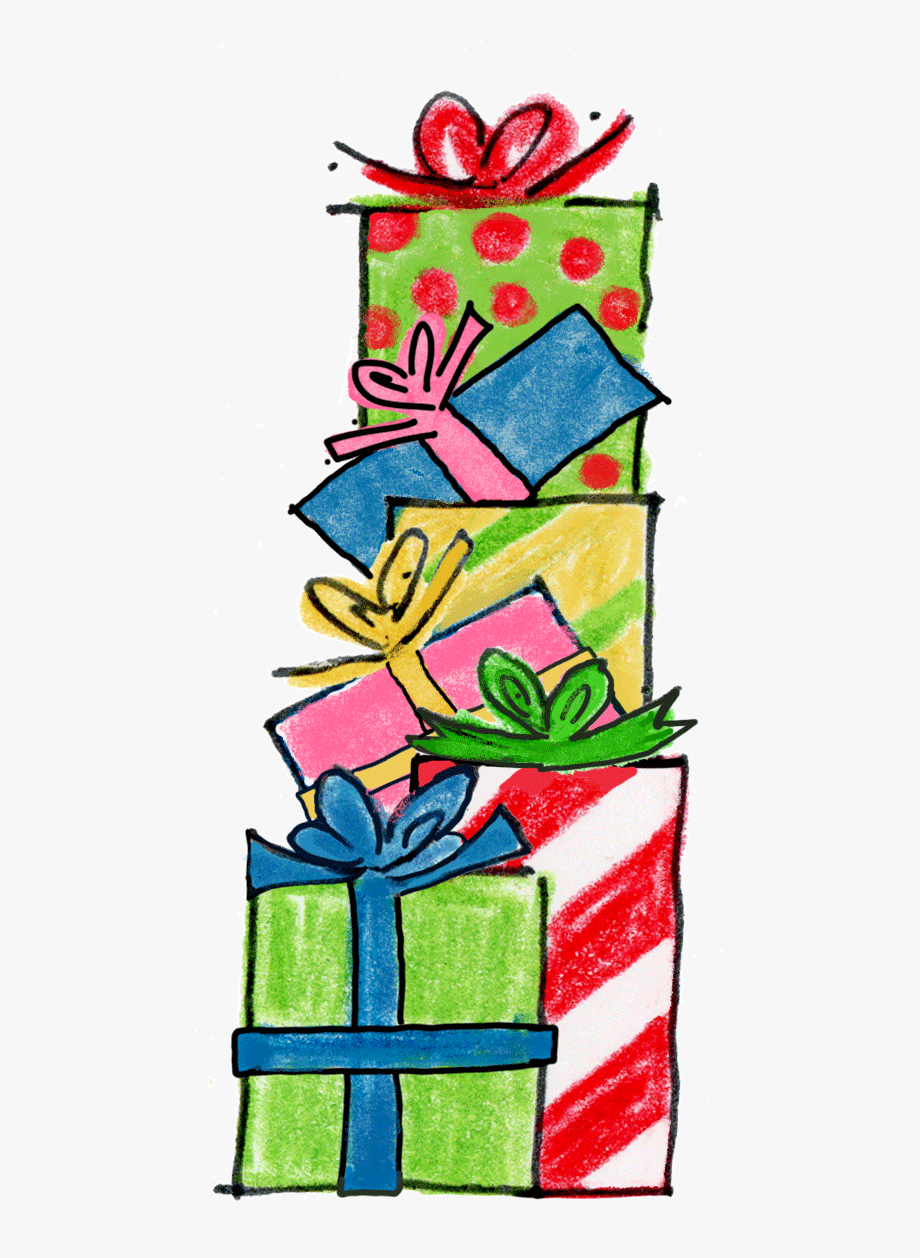 Stacked presents clipart.