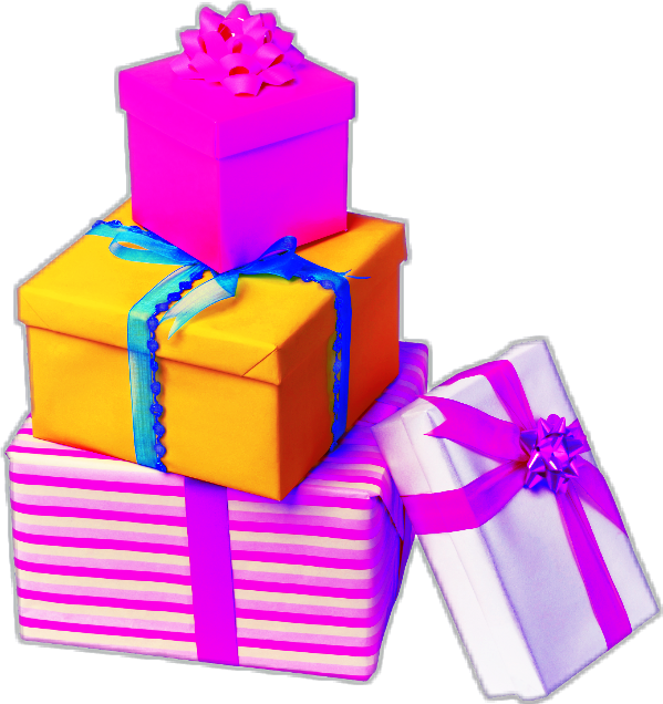 Gifts clipart stack.