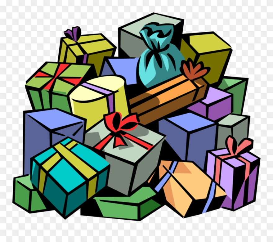 Gift clipart stack.