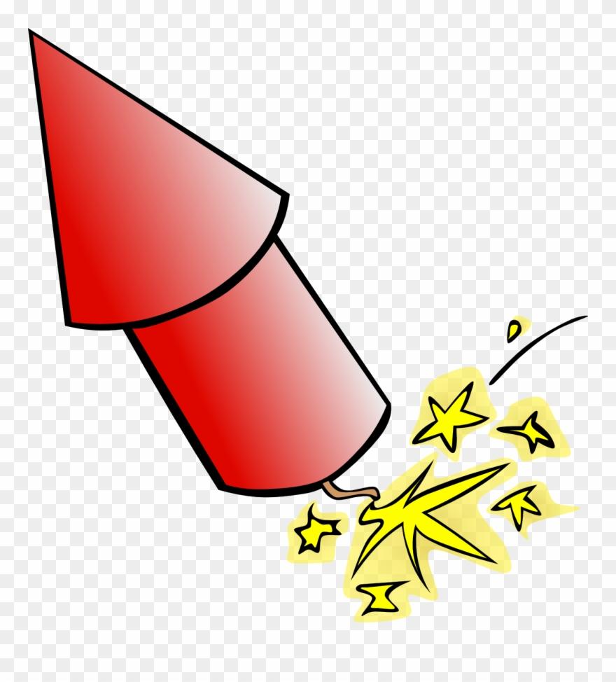 Rocket fireworks openclipart.