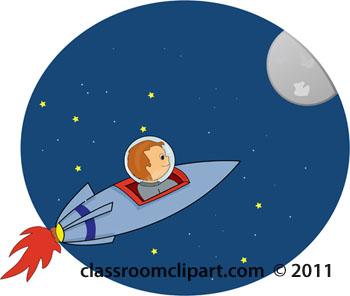 Rocket ship moon.