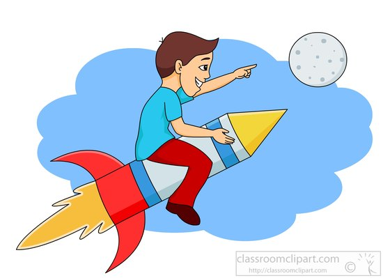Space clipart riding.