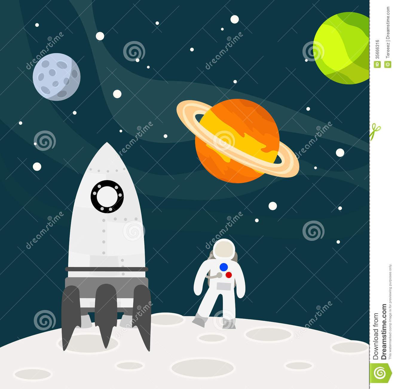 Astronaut moon clipart.