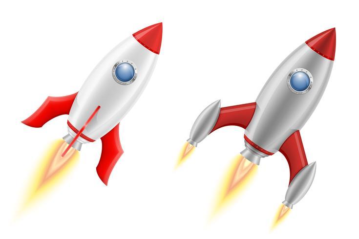 Space rocket retro.
