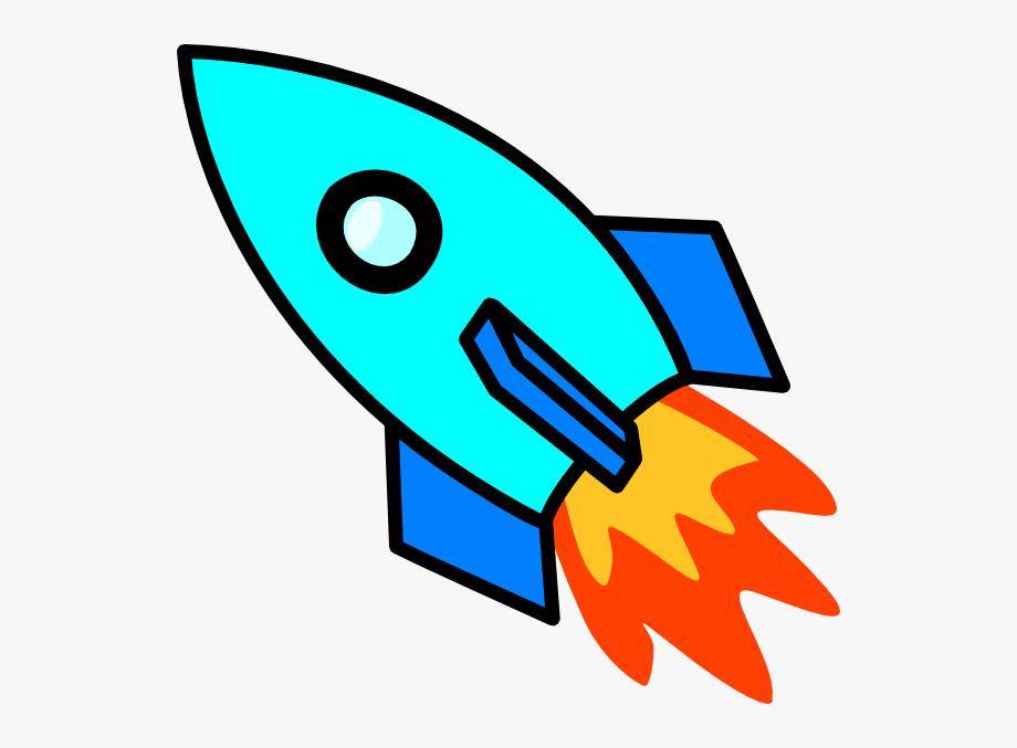 Light blue rocket.