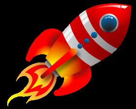 Retro rocket ship.