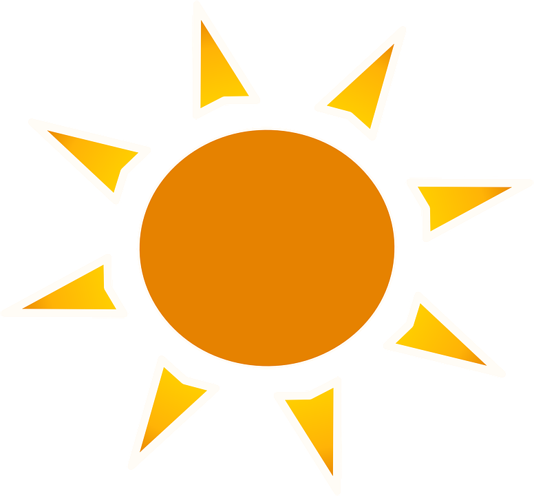 Orange sun clipart.