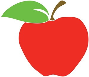 School apple clip.