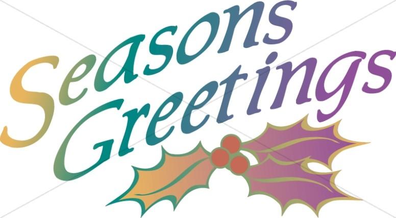 Seasons greetings with.