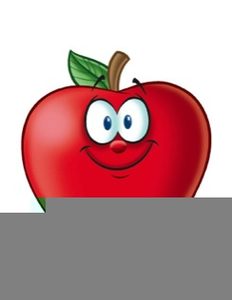 Smiling Apple Clipart
