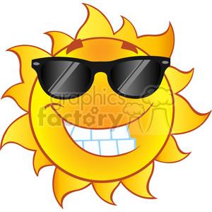 Smiling summer sun.