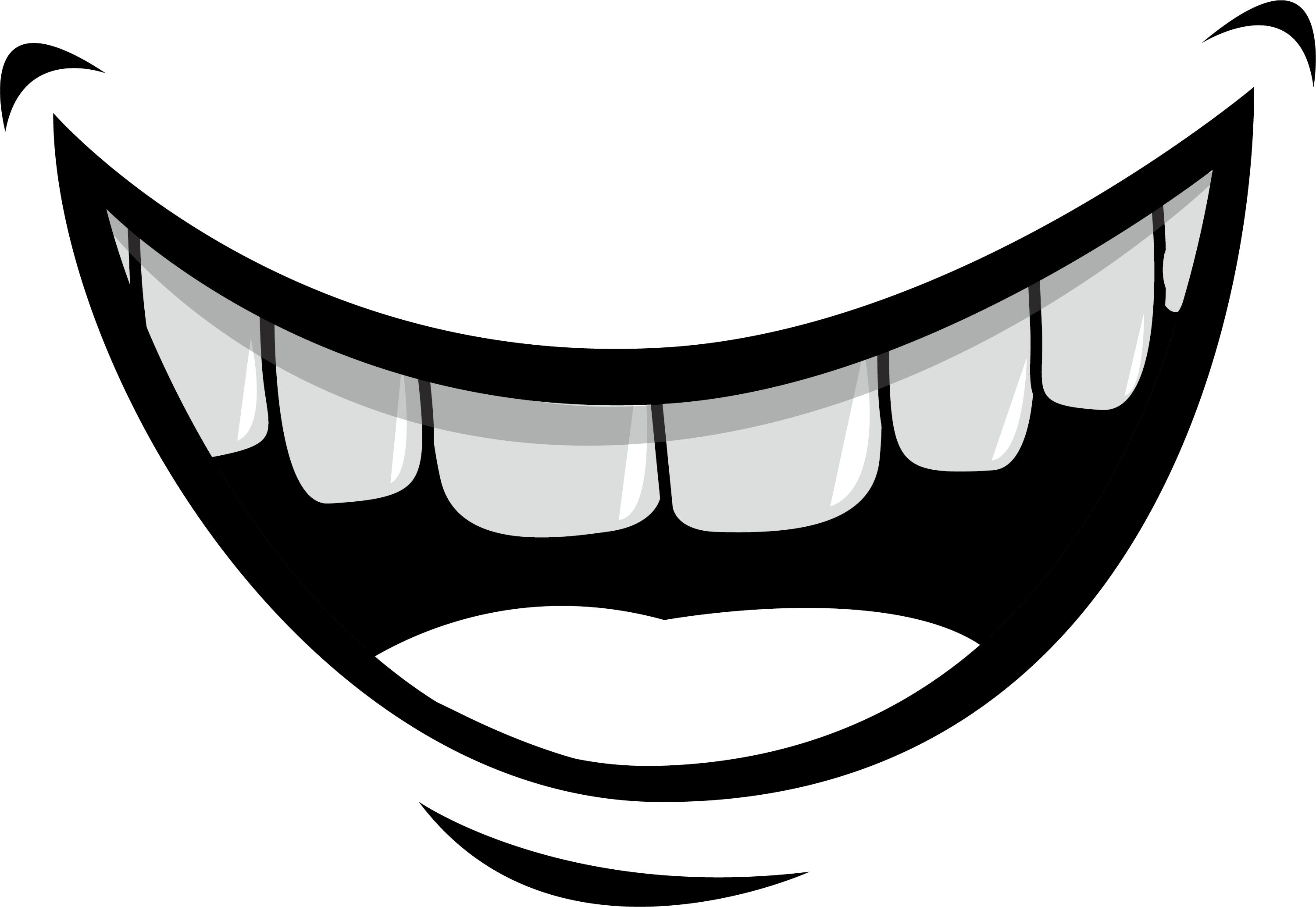 tooth clipart transparent background cartoon simple