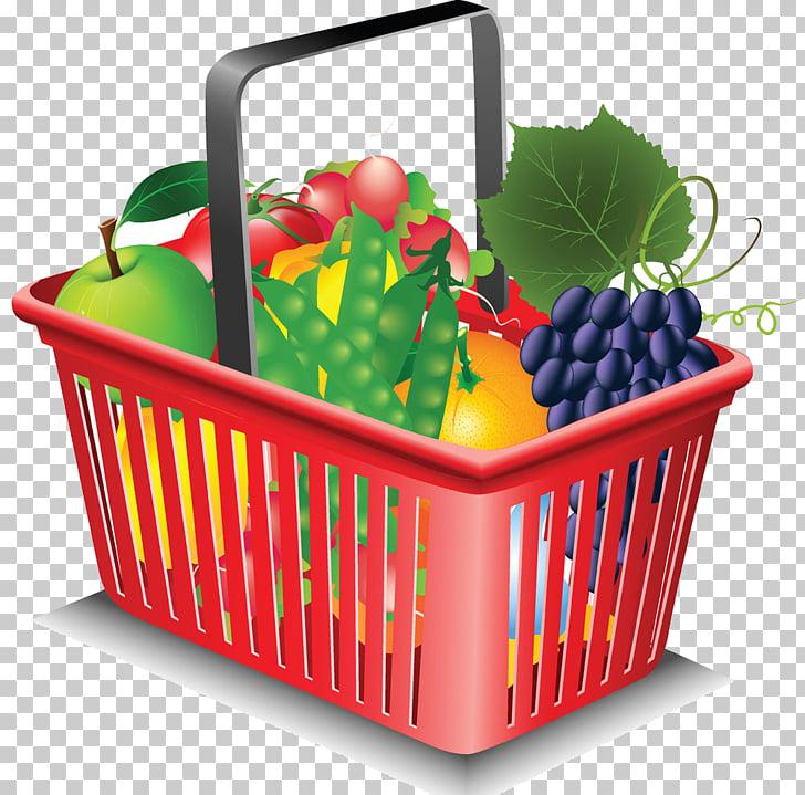 Organic food Basket Supermarket, vegetable and fruit PNG