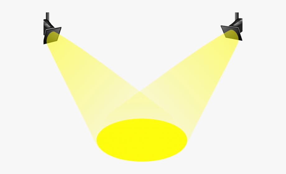 Bright clipart spotlight.