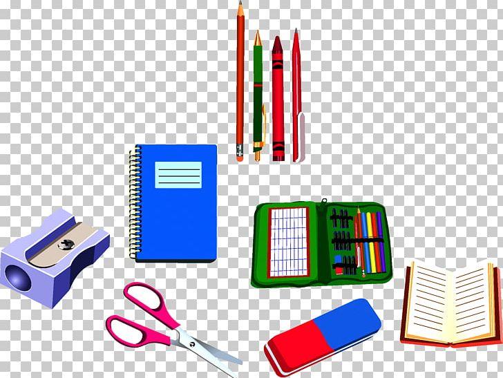 School supplies drawing.