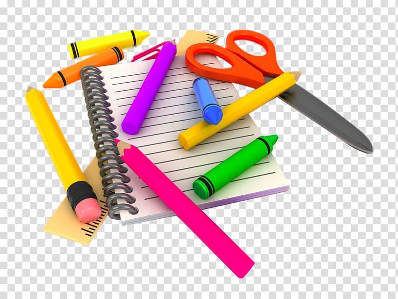 White notebook school.